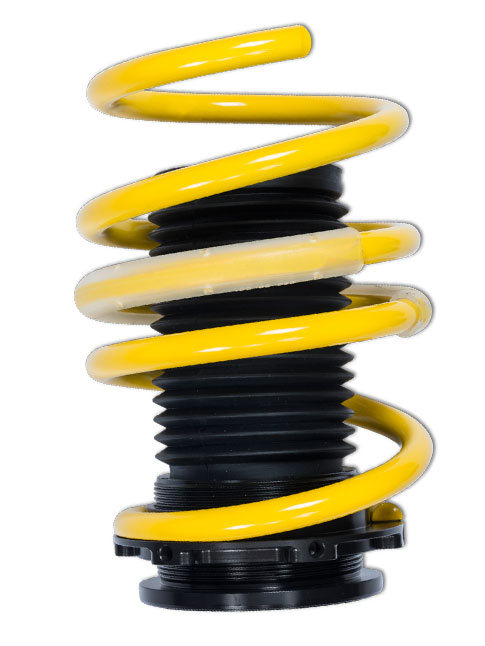 The advantage of the ST coil springs is that, in conjunction with the standard chassis, they allow infinitely variable lowering.