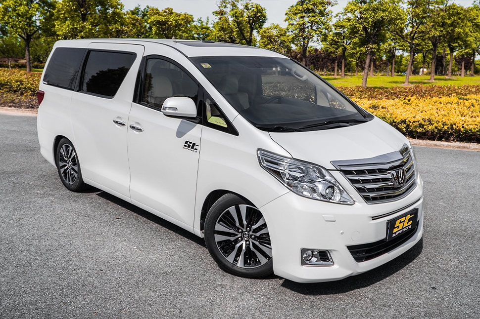 An adjustable ST XA coilover suspension is now available for the 2008 - 2015 Toyota Alphard and Toyota Vellfire (AH20).