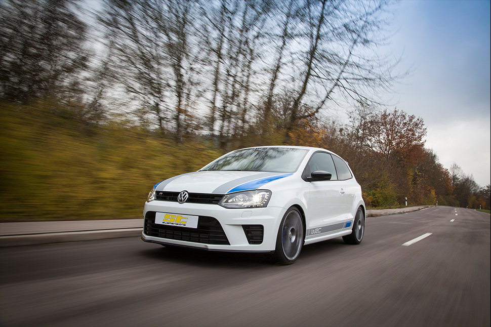 The ST coilover kits for the Polo have a suspension setup that was determined in numerous road tests and long-term tests, that provides a more direct handling and better grip at a sporty driving style.
