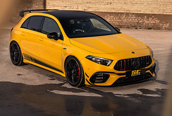 An ST coilover is now available for all Mercedes-AMG A 35 4MATIC, A 45 4MATIC+ and A 45 S 4MATIC+ of the V177-series.
